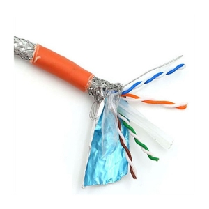 کابل شبکه نگزنس Cat6 SFTP روکش LSZH حلقه 500 متری تست فلوک پرمننت